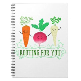 Positive Root Pun - Rooting for you Spiral Notebook