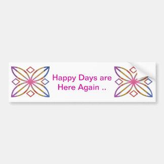Positive Strokes - Display Happy Designs Car Bumper Sticker
