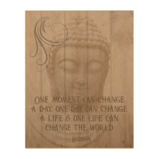 Positive Thinking Affirmation Buddhist Saying Wood Print