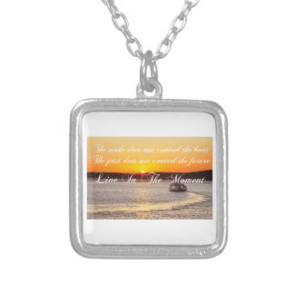 Positive Thinking Affirmation Silver Plated Necklace