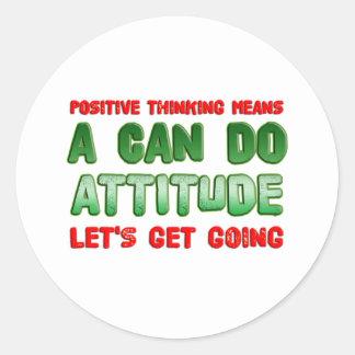 Positive Thinking Classic Round Sticker