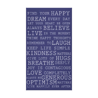 Positive Thoughts Inspirational Words Canvas Print