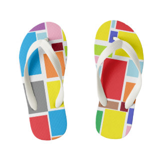 Positive Vibes Splash of color Flip Flops Thongs