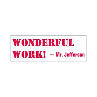 "Positive ""WONDERFUL WORK!"" Educator Rubber Stamp"