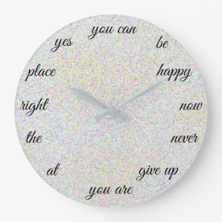 Positive Words Creative Motivational Large Clock