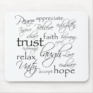 Positive Words Items Mouse Pad