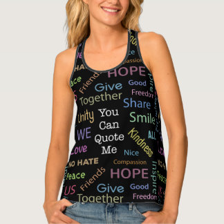 Positive Words Quote Resist Hate Singlet