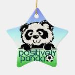 Positively Panda (Soccer) Christmas Ornament