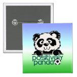 Positively Panda (Soccer) Pinback Buttons
