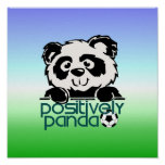 Positively Panda (Soccer) Posters