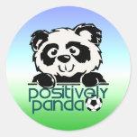 Positively Panda (Soccer) Round Sticker
