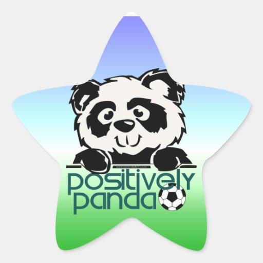Positively Panda (Soccer) Star Sticker