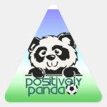 Positively Panda (Soccer) Triangle Sticker