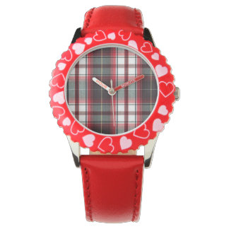 Positively Plaid Heart Youth Watch