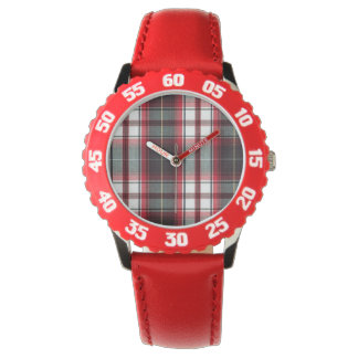 Positively Plaid Numbered Bezel Youth Watch
