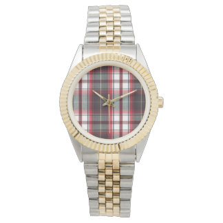 Positively Plaid Two Tone Watch