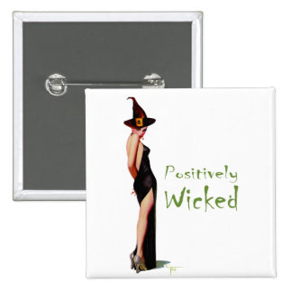 Positively Wicked 15 Cm Square Badge
