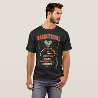 positiveness Brave Ambition Focus Racquetball Tees
