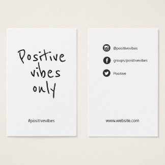 #positivevibes handfont Social Media Template - Business Card