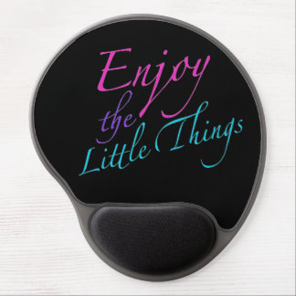 Positve Words Enjoy Life Quote Gel Mouse Pad