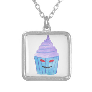 Possessed Cupcake Silver Plated Necklace