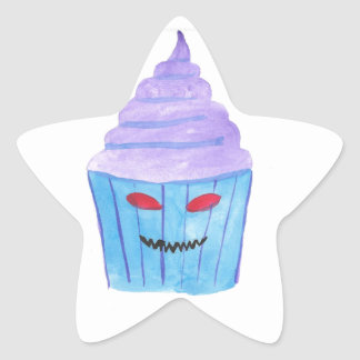 Possessed Cupcake Star Sticker