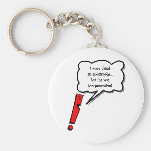 Possessive apostrophe key chain