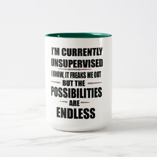 possibilities are endless funny mug design