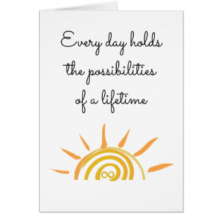 Possibilities of a Lifetime Card