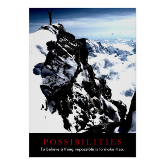 Possibilities Quote Mountaineer on Top Poster