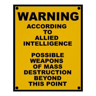 Possible WMD ~ Spoof Warning Sign