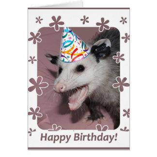 Possum birthday card