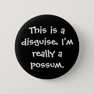 Possum Costume 6 Cm Round Badge