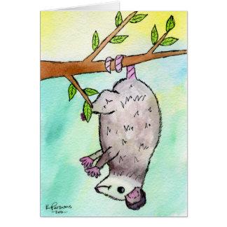 Possum Danglin' Card