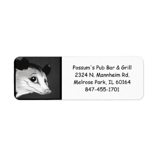 Possum's Pub Bar and Grill Return Address Labels