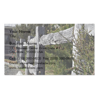 Post and Rail Fence Business Card Template