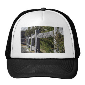 Post and Rail Fence Mesh Hats