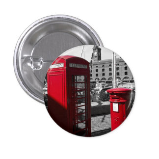 Post Box Phone box Pinback Buttons