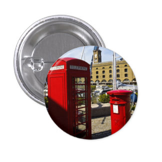 Post Box Phone box Pinback Button