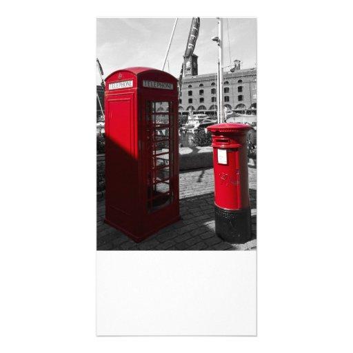 Post Box Phone box Customised Photo Card