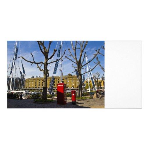 Post Box Phone box Photo Card Template