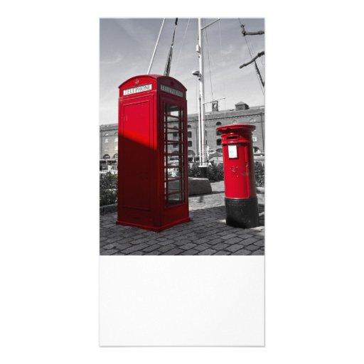 Post Box Phone box Photo Greeting Card