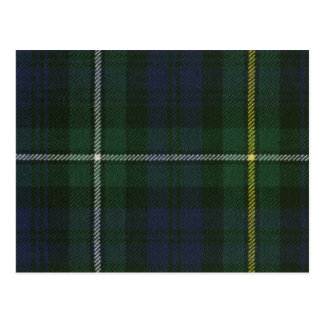 Post Card Campbell of Argyll Modern Tartan Print