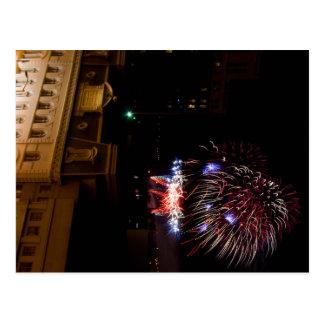Post Card: Dayton Fireworks (Red, White, & Blue) Postcard