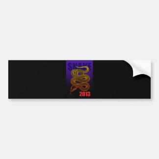 Post card length bumper sticker