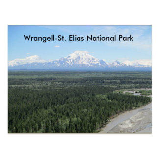 Post card of Wrangell-Saint Elias national park