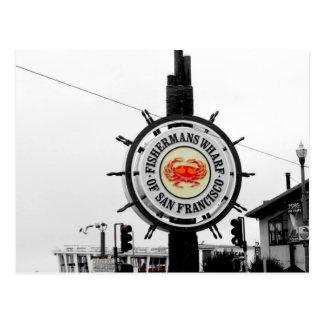 Post card San Francisco Fishermans Wharf Cali
