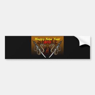 Post card side bumper sticker