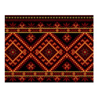 Post Card Ukrainian Cross Stitch Embroidery