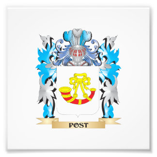 Post Coat of Arms - Family Crest Photograph
